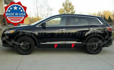 "2007-2015 Mazda CX-9 CX9 4Pc Stainless Steel Flat Body Side Molding Trim 1"""