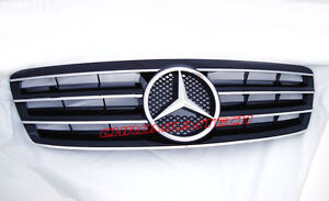 2000-2007 Mercedes  C-Class W203 BLACK CHROME SPORT GRILL AMG C32 C55 C200 C320