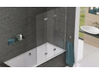 Kudos Inspire Three Panel In Fold Designer Bath Screen Left Hand RRP £384 ... Bargain