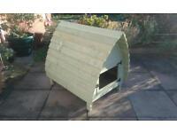 Wooden rabbit hutch glamping pod style shabby chic