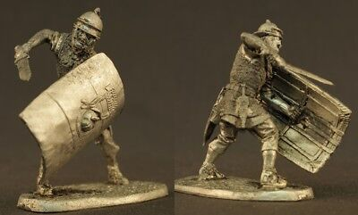 tin toy soldiers unpainted  54mm Roman legionary with sword (Toy Roman Sword)