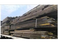 Various size used scaffold boards