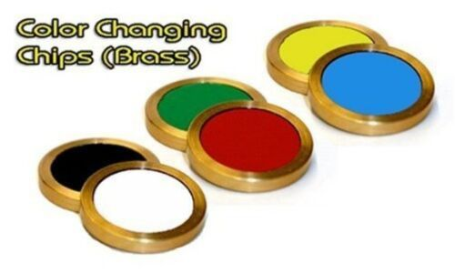 COLOR CHANGING CHIPS DECEPTION BRASS MAGIC TRICK CLOSE UP PARTY MAGIC TRICK