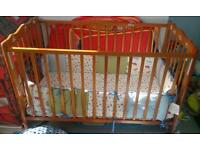 Cot bed with matres