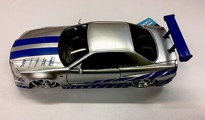 Brian's Nissan Skyline GT-R (R34) Fast and Furious 1/24  Die-cast CAR model