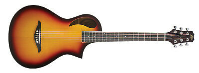 Peavey Composer 6 String Acoustic Parlor Size Sunburst Finish Spruce Top 18 Fret