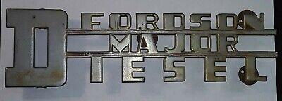 Fordson Major Diesel Tractor Emblem By Joseph Fray Ltd England Free Shipping