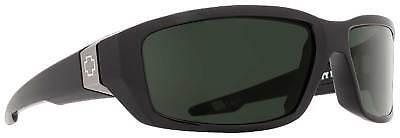 Spy Dirty Mo Sunglasses - Black / Happy Grey Green - Polarized - New