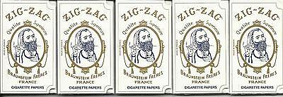 Used, ZIG ZAG 1.0 ORIGINAL CIGARETTE ROLLING PAPERS SET OF 5 for sale  Shipping to Canada