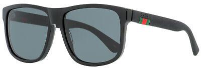 Gucci Square Sunglasses GG0010S 001 Black 58mm 0010