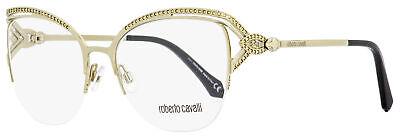 Roberto Cavalli Semi-Rimless Eyeglasses RC5054 Forte 032 Gold/Black 53mm (Semi Rimless)