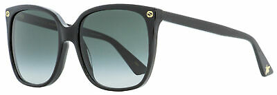Gucci Square Sunglasses GG0022S 001 Black 57mm (Gucci Ladies Sunglasses)