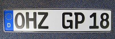 1 Fahrradträger-Kennzeichen/Autoschild/Nummernschild 520x110 mm nach DIN