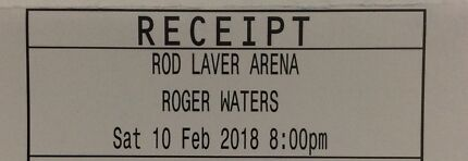 Roger Waters tickets for Melbourne