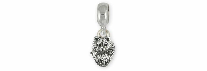 Keeshond Jewelry Sterling Silver Handmade Keeshond Charm Slide This Charm Will F