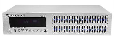 Rockville REQ42-S 2 x 21 Band Home Theater Equalizer w/ Audio Spectrum Analyzer
