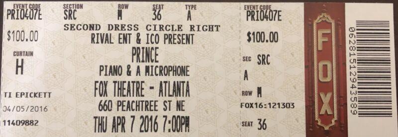 Prince Final Concert In Atlanta......A collectors Dream