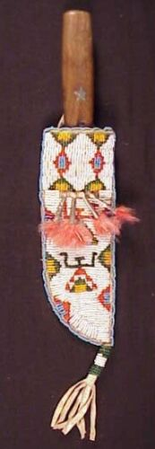 Beaded Scabbard with Trade Knife