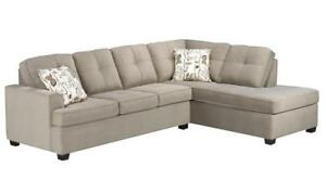 LEATHER SECTIONAL SALE | ST CATHARINES, ONTARIO | MODERN COUCHES FOR SMALL SPACES | WWW.KITCHENANDCOUCH.COM (BD-205)