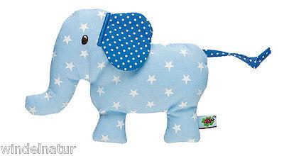 Rassel Babyglück Elefant Baumwolle hellblau Junge Geschenk Greifling Baby Geburt