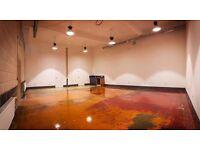 HACKNEY DOWNS STUDIOS / East Hall: Large, GRND FLR creative studio/workshop/office with mezzanine