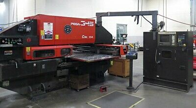 Wow 2000 Amada Pega 345 30 Ton Cnc Turret Punch Press With Wilson Tool Punches