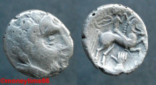 Gauloise ! Les Bituriges Cubi, drachme à la main et au bouclier, ref DT 3343