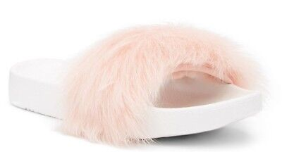 UGG Australia Women's Royale Genuine Lamb Fur Slide Sandals Baby Pink Size 8