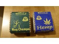 TWO BARS OF HAND MADE 100% VEGAN SOAP FROM NEPAL - HEMP AND NAG CHAMPA