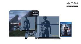 Playstation 4 1TB uncharted edition with fifa 17 & 16