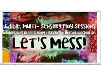 Brand New Multi-sensory Edible Play Sessions for preschoolers. First session just £2!