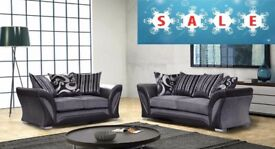 *SPECIAL OFFER*COME AND VIEW IT ,TRY IT THEN BUY IT* BRAND NEW 3+2 SEATER SOFA SUITE BLACK/GREY