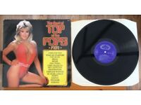 Rare complete collection of classic UK Top of The Pops Vinyl LPs