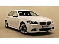 BMW 5 SERIES 2.0 520D M SPORT 4d 188 BHP + 1 PREV OWNER + SERV (white) 2015