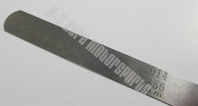 .014.356 Mm Feeler Gage Gauge 12 Long Strip 12 Wide Usa Made Carbon Steel