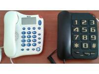 2 corded telephones £8 each