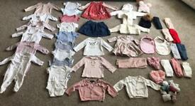 Baby Girl Clothing Bundle 0-12 months