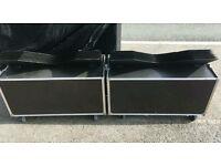 JBL 2935 Slant plate horns and flight cases