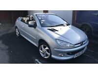 SPARES OR REPAIR DUE TO NO MOT PEUGEOT 206CC CONVERTIBLE ALLURE 1.6 PETROL 2004 04 PLATE 130K