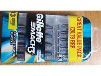 BRAND NEW/Gillette MACH 3 Blades Pack