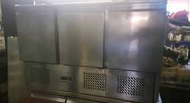 Polar commercial Pizza topping chiller Stainless steel fully
