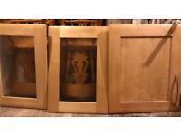 3 kitchen cupboard doors
