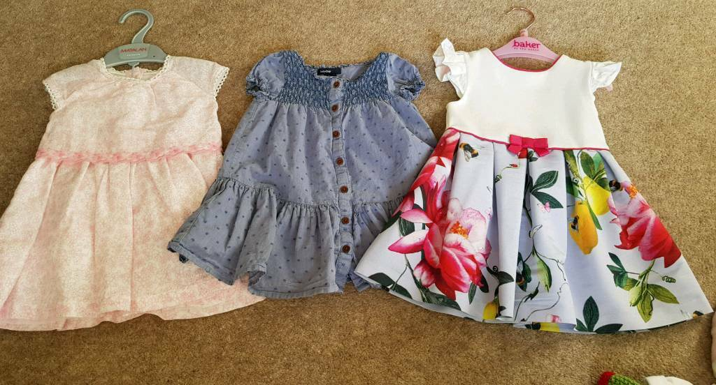 dd74eaa39ca070 3 baby girls dresses size 6-9 months (Ted Baker