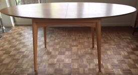 Extendable Scandi style oval wooden Dining Table, Marks and Spencer