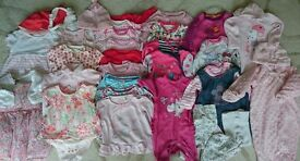 Bundle of Baby Girl Clothes, 0-9 months,in excellent condition