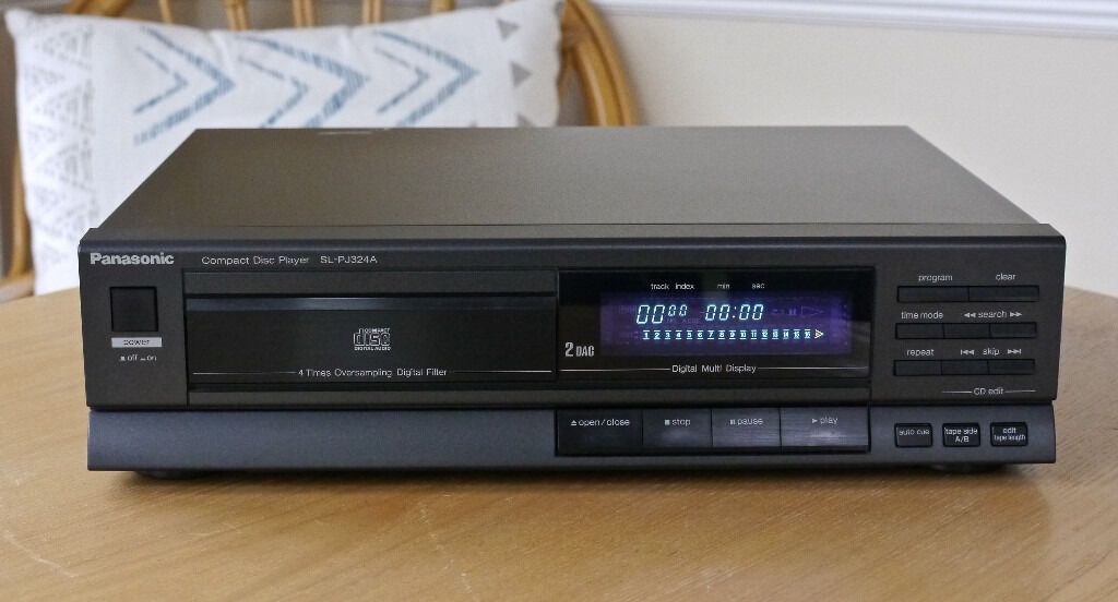 vintage panasonic sl pj325a cd player made in germany. Black Bedroom Furniture Sets. Home Design Ideas