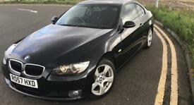 Black BMW 3 series 2dr coupe 320i petrol manual