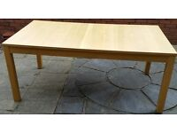 Extending dining table. Normal 170cm x 95cm. extendable to 210cm or 260cm. In very good condition.