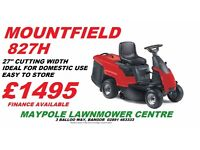 "New Mountfield 27"" Ride On Lawnmower 27"" Cut - Cheap Ride On"