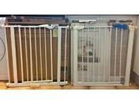 Pair of Lindam stair gates - Sure Shut Axis & Easy Fit Plus